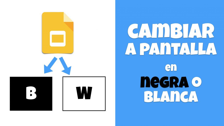 Cambiar a pantalla negra o blanca en Presentaciones de Google