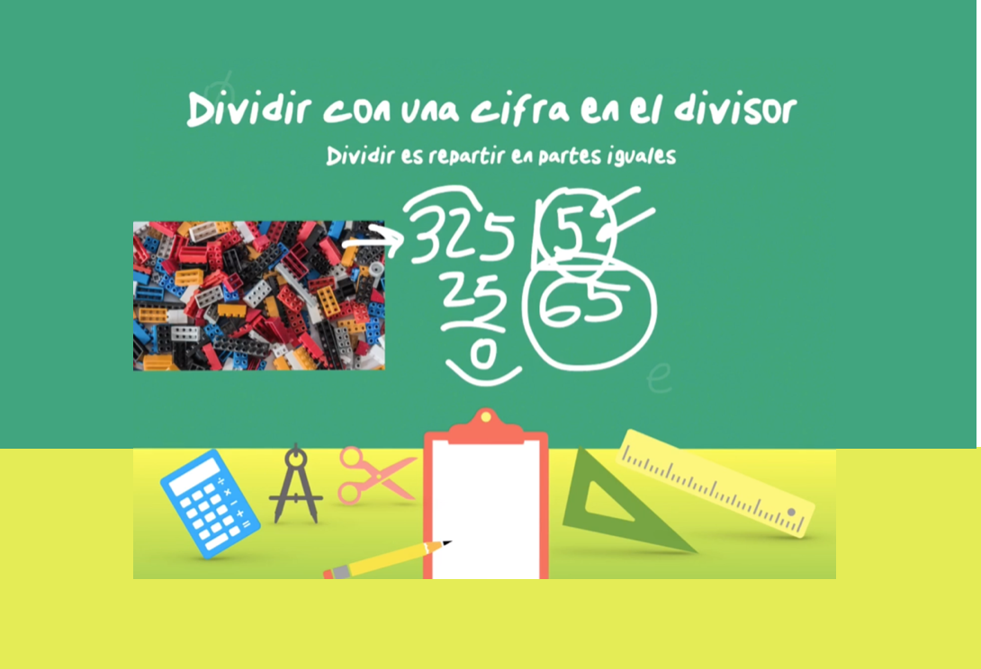 Dividir con una cifra en el divisor (ejemplo 1) - jose-david.com