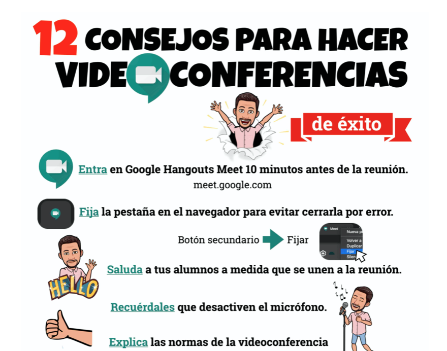 12 consejos para hacer videoconferencias de éxito. Por José David Pérez (jose-david.com).
