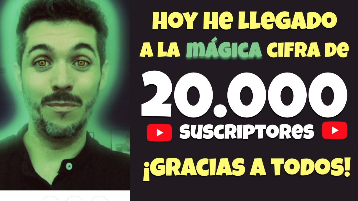 20.000 suscriptores. José David Pérez (jose-david.com).