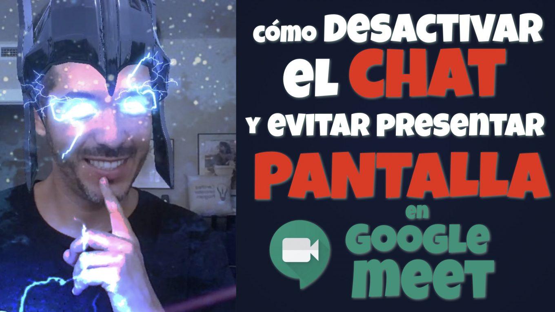 Cómo desactivar el chat y evitar presentar pantalla - José David Pérez (jose-david.com)